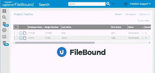 File Bound Screen
